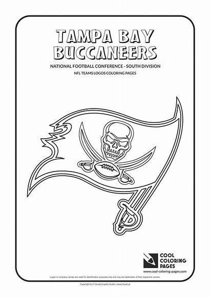Coloring Nfl Pages Bay Logos Football Buccaneers