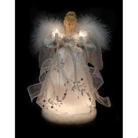 ice palace lighted white silver angel christmas tree