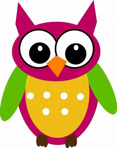 Owl Clip Clipart Math Cartoon Purple Cliparts