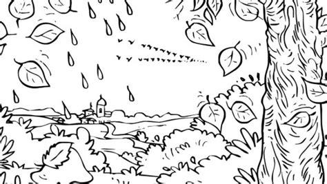 disegni con acquerelli per bambini disegni bosco autunno da colorare