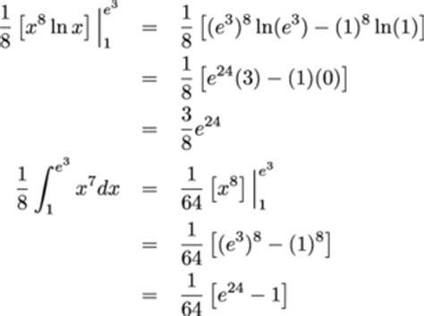 Integration By Parts Definite Integrals Exercises