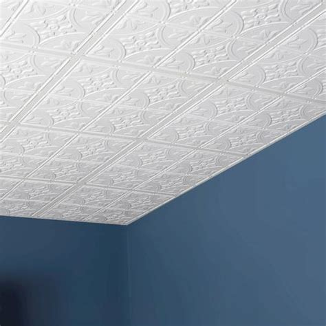 Genesis Ceiling Tile Menards genesis designer 2 x 2 pvc antique lay in ceiling tile