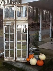 Vintage restored window panels Mirrors installed in lower