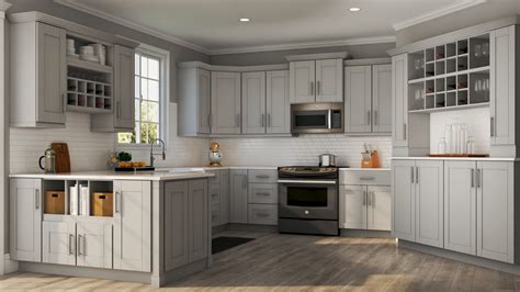 Gray Kitchen Cabinets by Shaker Base Cabinets In Dove Gray Kitchen The Home Depot