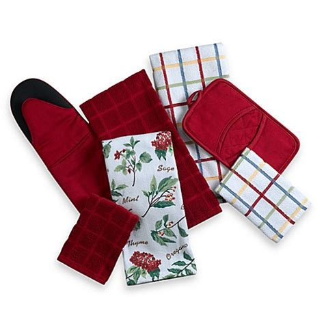 kitchen towel sets kitchensmart 174 kitchen towels and pot holders bed bath