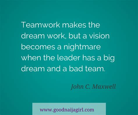 Quotes John Maxwell Teamwork