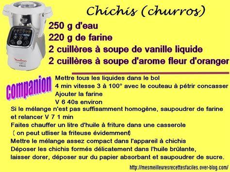 moulinex cuisine companion recettes churros chichis au companion mes meilleures recettes
