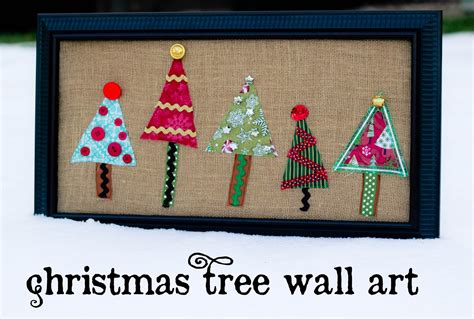 This would add very little time or cost to the project and would make such wonderful art to use a home for a house. Christmas Tree Wall Art (Swell Noel #34) - Positively Splendid {Crafts, Sewing, Recipes and Home ...