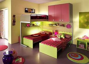 ergonomic kids bedroom designs for two children from With bedroom design ideas for kids