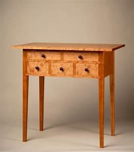 Custom, Shaker, 5, Drawer, Hall, Table, By, Aedanworks