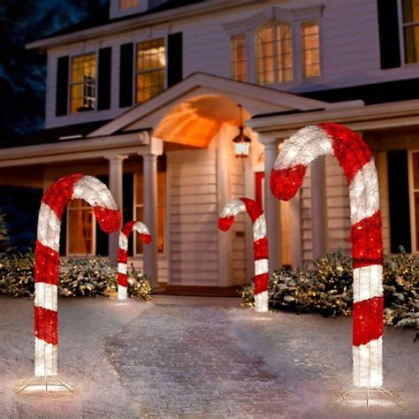 Halloween Blow Mold Display by Tis Your Season 4 Ft Lighted 3d Tinsel Candy Cane
