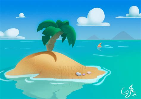Lonely Cartoon Island By Cartoongurra On Clipart Library