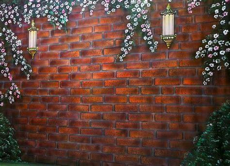 background foto studio bata merah tembok bunga