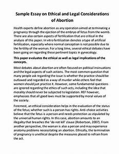 abortion thesis statement pro life