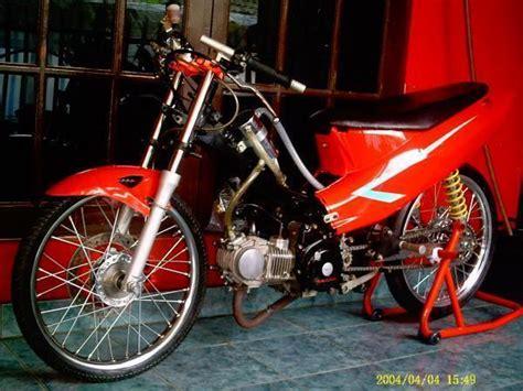 Honda Supra X 125 Drag Style Modifikasi BIKES AND MOTOR
