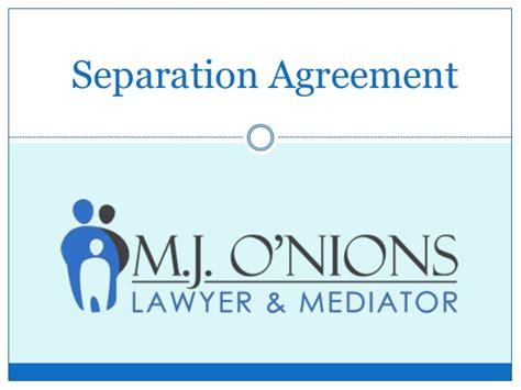 separation agreement  lawyer bc printable