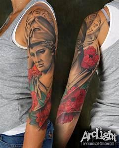 Athena tattoo sleve - masontattoo | tats | Pinterest