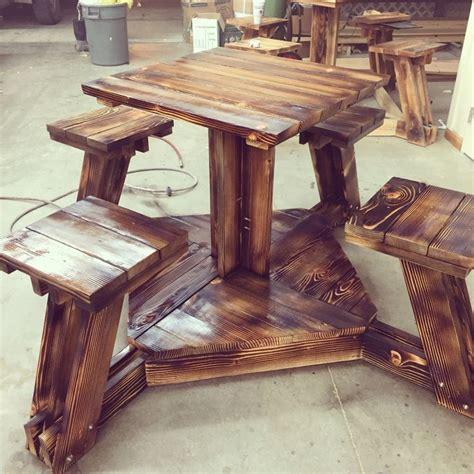 bar height picnic table   burn