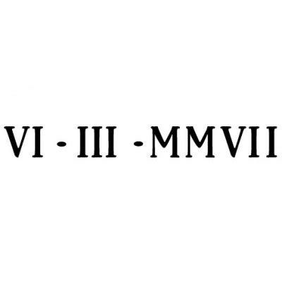 Date En Chiffre Gravure Date En Chiffres Romains Sur Bijou Par Atelier De Gravure