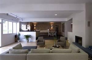deco salon cuisine idee salon sejour on decoration d With decoration interieur cuisine moderne