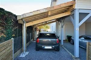 Garage Voiture En Bois : garages et abris voiture construction de maisons en bois bbc dans les landes ~ Dallasstarsshop.com Idées de Décoration