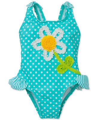 baby girls daisy dot swimsuit swimwear