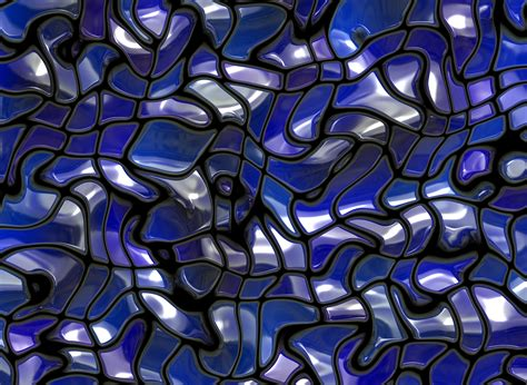 abstract background of blue tiles inspired by the ocean