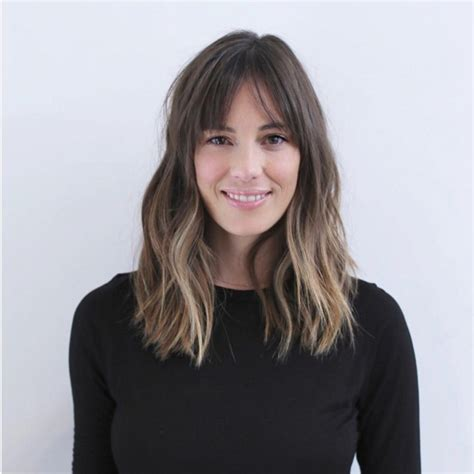 super chic medium hairstyles  bangs