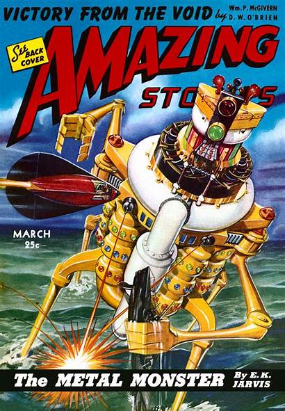 Amazing Stories Monster Sci Covers Fi Magazine