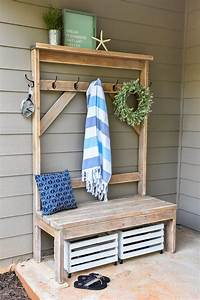 diy farmhouse style tree for pool towels