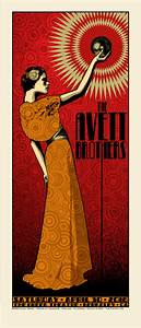 The Avett Brothers, Greek Theatre, Berkeley Poster - Chuck ...