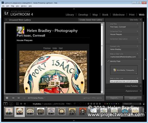 How To Create A Html Web Gallery In Lightroom