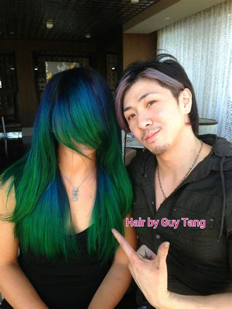 Blue And Green Ombre Hair Pinterest Ombre Blue And