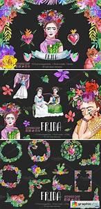 Modern It Resume Frida Kahlo Watercolor Clip Art Free Download Vector