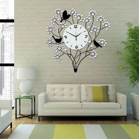 Decorative Living Room Wall Clocks by Large 60cm Decorative Needle Living Room Big Wall