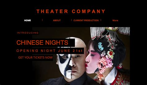 Theatre Company Website Templates by Theater Plays Wix Template Wix Creative Arts Template