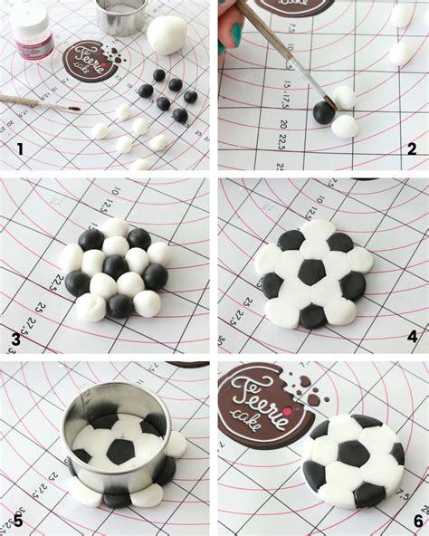 tutoriels toppers cupcakes foot et sucettes ballons de foot
