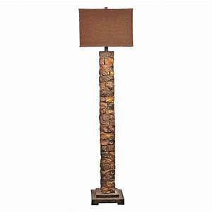 Sedona stacked stone floor lamp master bedroom for Floor lamp masters