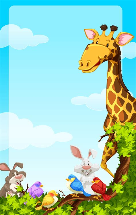 Background template with wild animals - Download Free ...