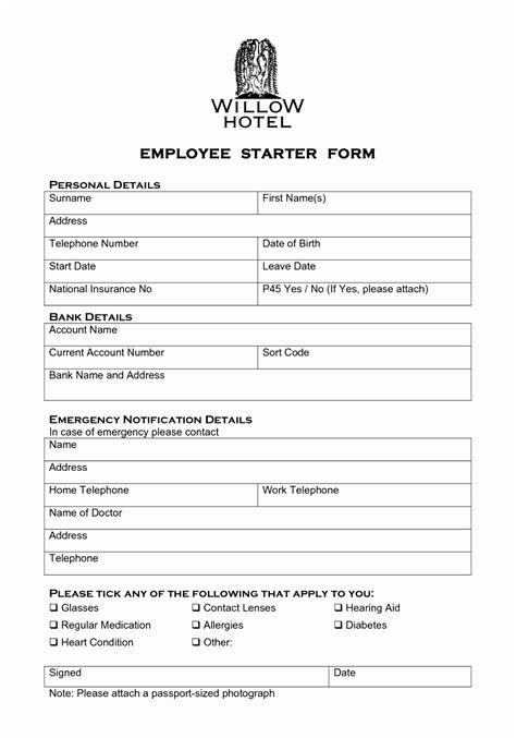 new hire forms template 6 new hire forms template euyru templatesz234