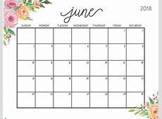 June 2018 Planner 2018 Calendars Pinterest Planners