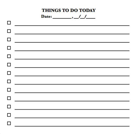 daily to do list template 10 to do checklist sles sle templates