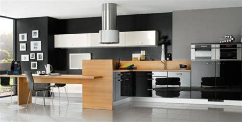 beautiful cuisine noir bois inox contemporary matkin