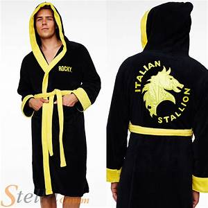 adult rocky balboa italian stallion fleece bathrobe boxing With robe de chambre polaire homme