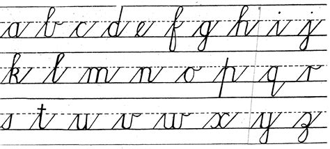 Handwriting Cursive Lower  Practical Pages