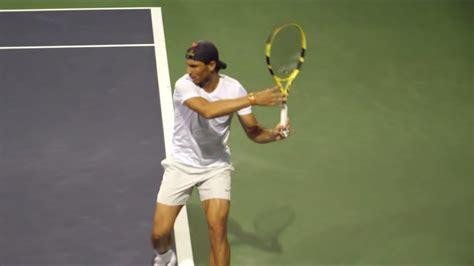 Rafael Nadal Forehand Slow Motion 2019 - YouTube
