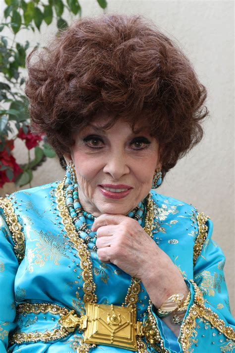 Gina Lollobrigida  Visits the HFPA Offices in Los Angeles