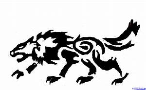 Tribal Wolf Outline Drawing | www.imgkid.com - The Image ...