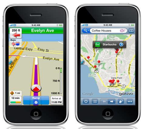gps app for iphone gokivo yahoo and nim navigation app for iphone ubergizmo