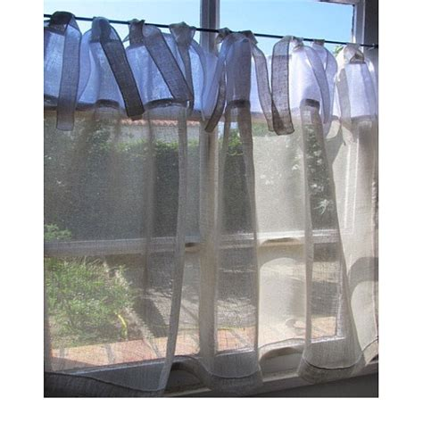 sheer linen cafe curtain white cafe curtain kitchen